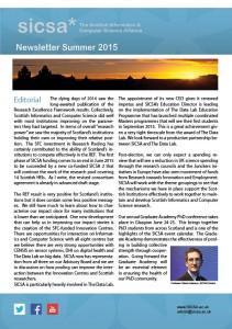 SICSA Newsletter Summer 2015